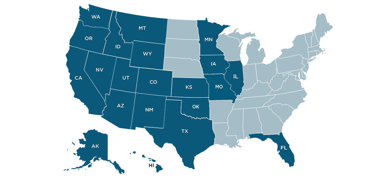 American Pacific Mortgage is licensed in 21 states: Alaska, Arizona, California, Colorado, Florida, Hawaii, Illinois, Indiana, Iowa, Kansas, Minnesota, Missouri, Montana, Nevada, New Mexico, Oklahoma, Oregon, Texas, Utah, Washington & Wyoming