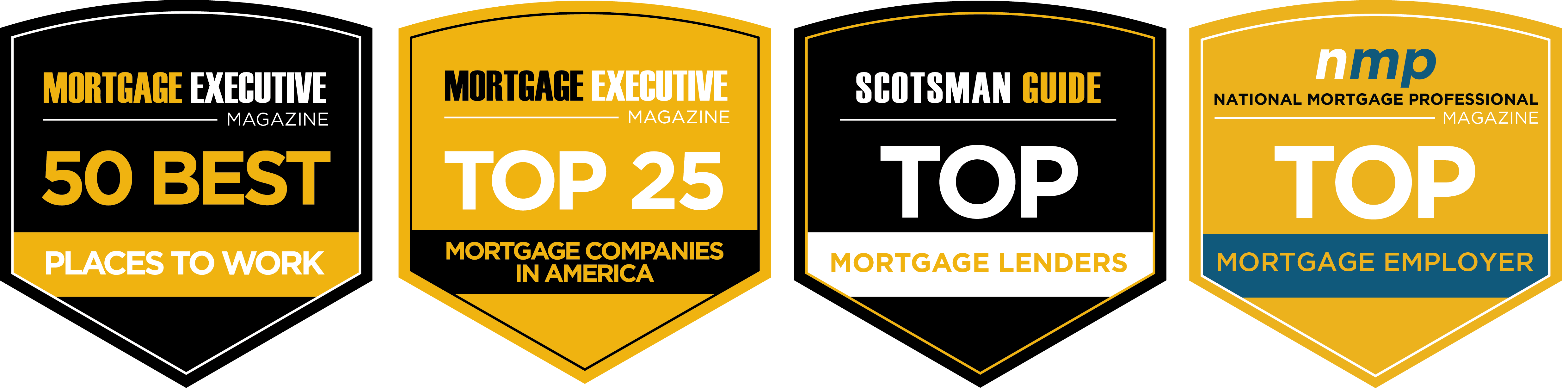 AP Mortgage award icons