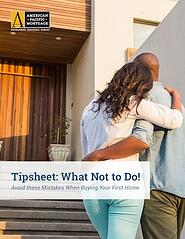 Tipsheet: What Not to do!