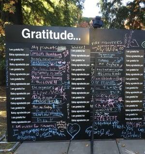 Gratitude wall from Kincade Fire