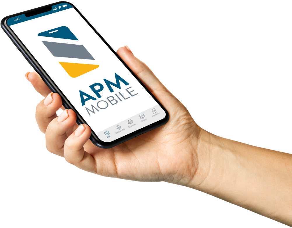 APM Mobile App on mobile phone