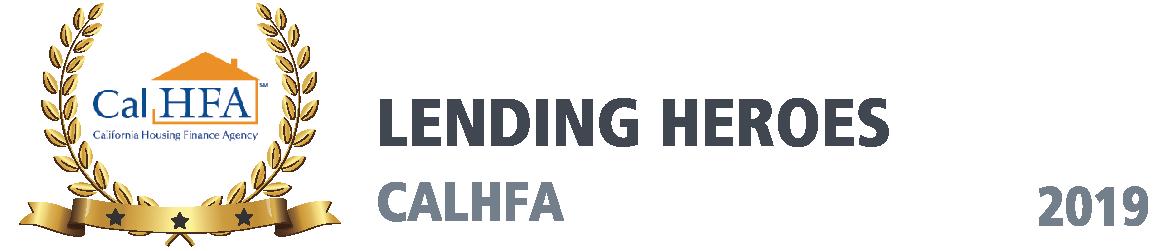 Cal HFA Award, Lending Heroes, 2019