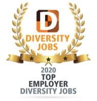 Diversity Jobs Award, Top Employer, 2020