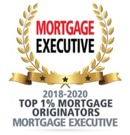 Mortgage Executive award, Top one percent mortgage originators, 2018 thru 2020