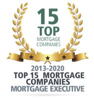 Mortgage Executive Award, Top 15 Mortgage Companies, 2013 thru 2020
