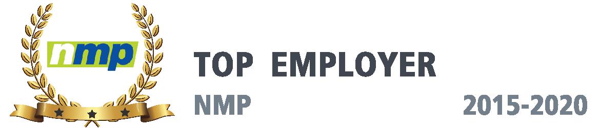 NMP Award, Top Mortgage Employer, 2015 thru 2020