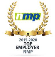 NMP Award, Top Mortgage Employer 2015 thru 2020