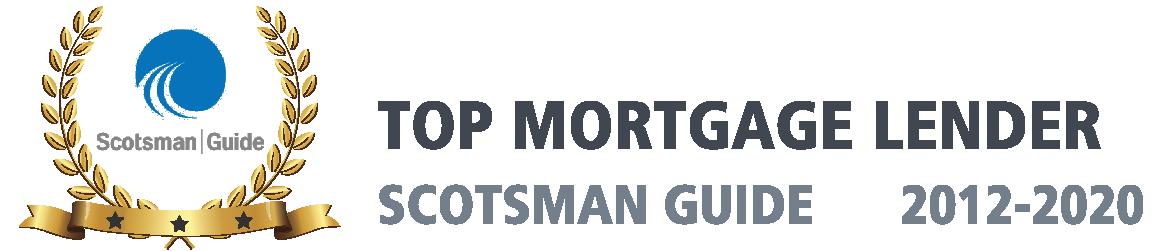Scotsman Guide Award, Top Mortgage Lender, 2012 thru 2020
