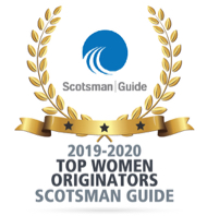 Scotsman Guide award, Top Women Originators, 2019 thru 2020